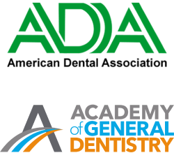 American Dental Association and Academy of General Dentistry logos